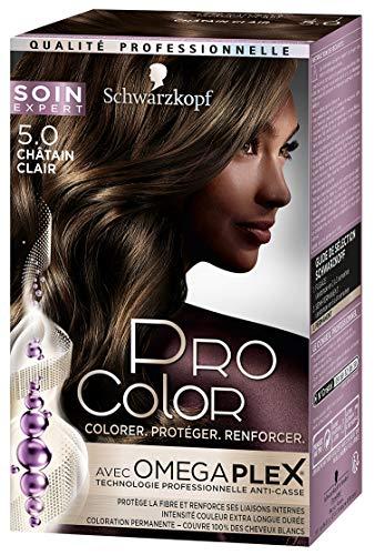 Schwarzkopf - Pro Color - Coloration Permanente Cheveux - Anti-Casse - Châtain Clair 5.0