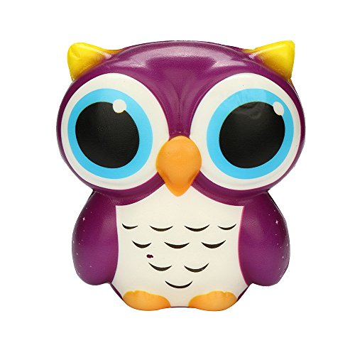 Squishy Owl Toys Slowly Rising Cartoon Cute Kid Toys Squishies Kawaii Squeeze Stress Relief Toys for Stress Anxiety Pressure, Adults & Kids Gifts Collection
