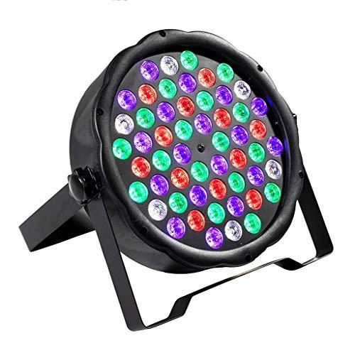 LED Flat Par 54x3W RGB-Farben-Beleuchtung Strobe DMX 512-Stadiums-Effekt-Licht for DJ-Disco-Partei-Hochzeit Bar-Stadiums-Partei-TV Bühnenlampen 3.4