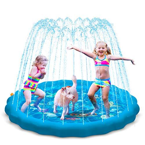 KOROSTRO Splash Pad, Spielzeug Sprinkler Play Matte, 170cm Sommer Garten Wasserspielzeug für Outdoor Familie Aktivitäten, Baby, Kinder, Strand, Party, Hund und Haustiere