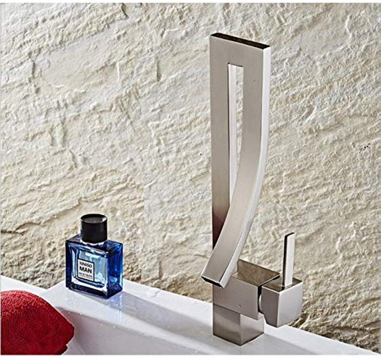 YHSGY Küchenarmatur Becken Waschbecken Wasserhahn Deck Montieren Schwarz Gebogener Auslauf Kreative Design-Badezimmer-Mischer Mit Warmwasser-Wc-Waschbecken Wasserhhne
