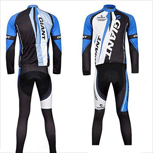 Ciclismo Suit Vestito degli Uomini e di Donne pieni Zipper Maniche Lunghe Jersey Stile Giacca Mountain Bike Sportswear Running Tuta Traspirante Asciugatura Rapida Ciclismo Suit (Size : Pink-XXXL)