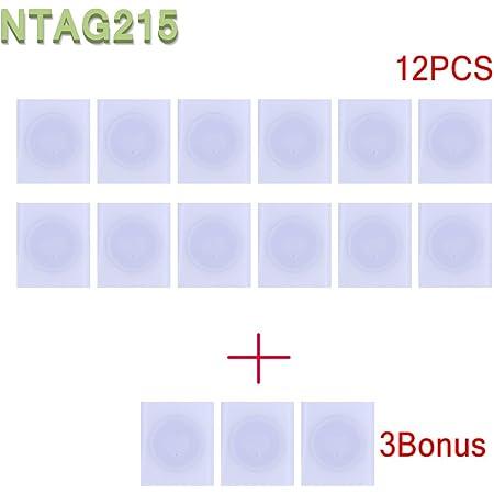 15x NTAG215 NFC Tags Stickers TagMo Amiibo compatibile-usato per le carte da gioco Amiibos e compatibile con tutti gli smartphone e dispositivi abilitati NFC