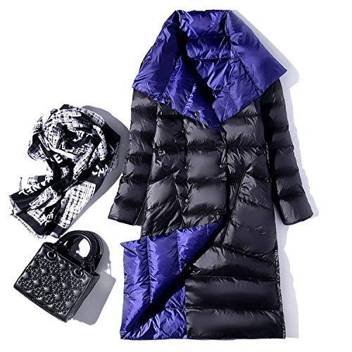 Goods-Store-uk Winter Coltrui Witte Eend Down Jas Dubbele Borst Warm Parkas Sneeuw Bovenwerk