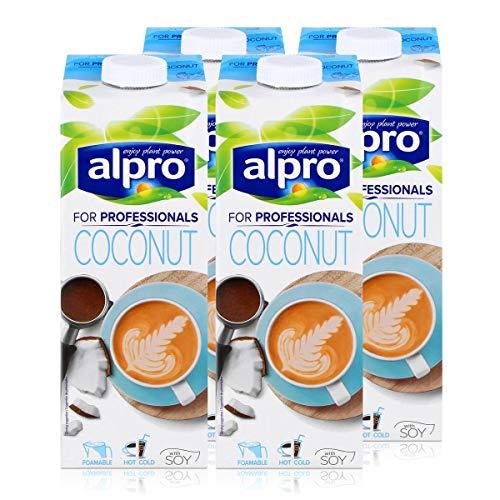 Alpro for professionals Coconut 1L - Kokosnussdrink mit Soja angereichert mit Calcium (4er Pack)