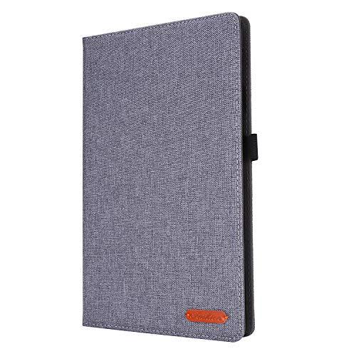 Lobwerk Funda para Samsung Galaxy Tab S6 Lite SM-P610 P615 10.4 pulgadas Tablet Funda Delgada con Función Stand y Auto Sleep/Wake, Gris