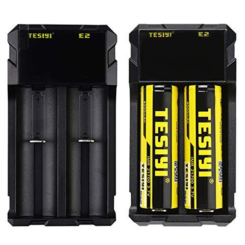 TESIYI E2 Universal Battery Charger For Rechargeable 18650 21700 20700 18350 Li-ion Ni-MH Ni-Cd A AA...