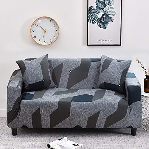 WXQY Fundas geométricas elásticas Fundas Antideslizantes elásticas para sofá Funda para sofá para Mascotas Esquina en Forma de L Funda para sofá Antideslizante A21 2 plazas