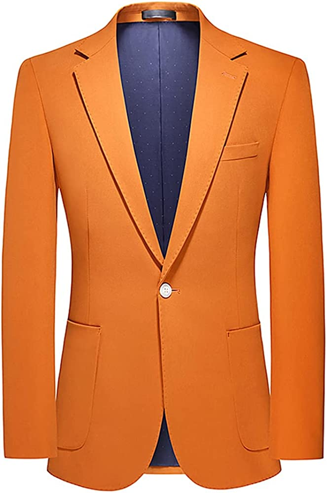 YFFUSHI Mens Slim Fit 1 Button Blazer Jacket Casual Sport Coat Business Daily Blazer