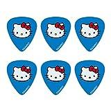 Hello Kitty Face Novelty Guitar Picks Medium Gauge - Set of 6