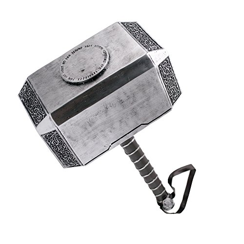 AMONT Martillo de Thor, tamaño real, producto decorativo, Mjolnir