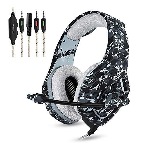 Docooler K1 Auriculares de Juegos de 3,5 mm con Micrófono Estéreo...