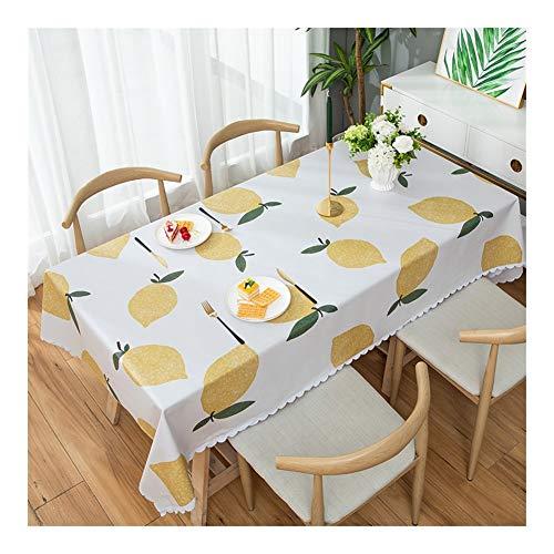 Yxx max - Mantel para el hogar impermeable rectangular mesa de café, mantel antiincrustante, duradero, fácil de limpiar, mantel de café impermeable y antiincrustante, 2#, 120 x 170 cm