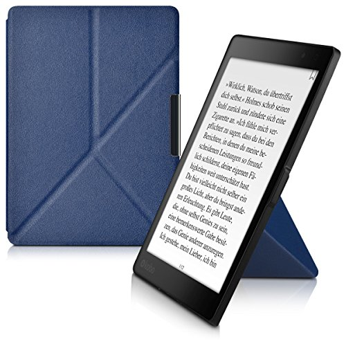kwmobile Custodia leggìo Compatibile con Kobo Aura One - in Pelle Sintetica con Chiusura Magnetica - Smart Cover con Funzione appoggio