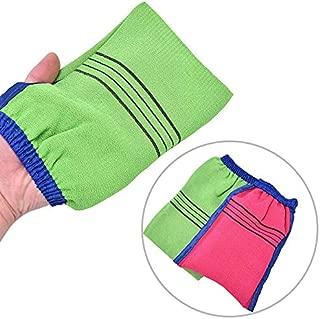 Vanselonsa 1pc Korea Styles Soft Bath Gloves Scrub Exfoliating Remover Clean Wash Bathroom Random Color - Back Elderly Gift Handles Electric Soft Women Brushes Sponges Long Rubber Butt Ba