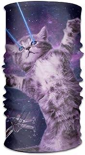 Funny Space Cat Lazer Copricapo per Uomini e Donne-Yoga Sport Viaggi Allenamento Fasce Larghe, Scaldacollo, Bandana, Foder...