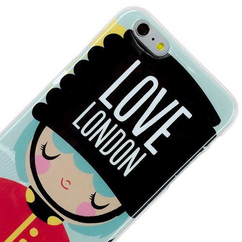 Vahalla Accesorios Funda para iPhone 6 Plus/iPhone 6s Plus Gel Love London