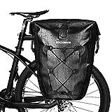 ROCKBROS Bike Pannier Waterproof 27L Large Capacity Bike Bag Rear Rack Bicycle Pannier Bag Waterproof for Grocery Touring Cycling
