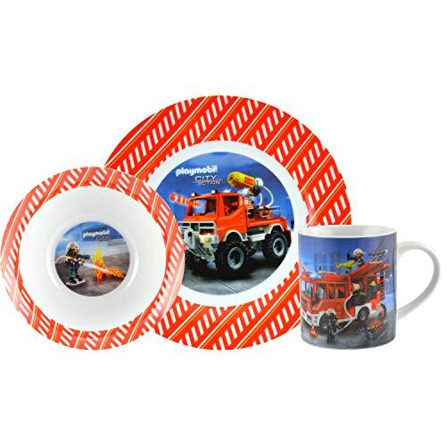 Playmobil City Action - Frühstücksset 3tlg. Kindergeschirr mit Feuerwehr Motiv