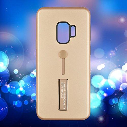 Suporte de anel de raytheon de poliuretano termoplástico e policarbonato à prova de quedas, resistente a arranhões, capa protetora para telefone Samsung S9 (prata), Rose Gold Samsung S9
