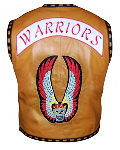 Zouq Fashions Ajax The Warriors James Remar Gang Gilet in pelle Marrone M