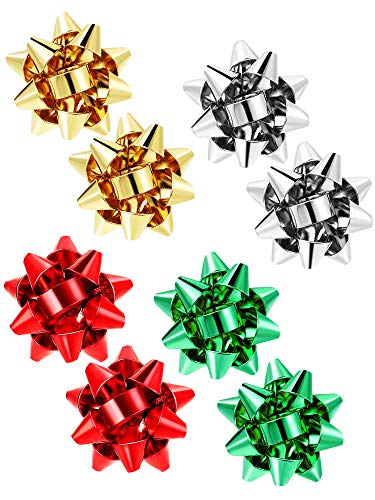Christmas Bow Earrings Xmas Present Bow Earrings Christmas Stud Earrings for Women Favors (4)