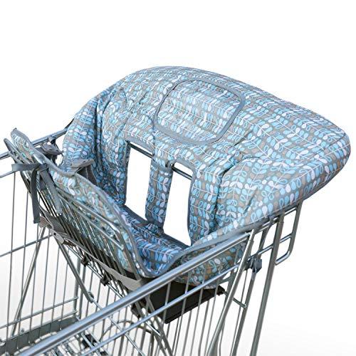 Amazy Einkaufswagenschutz mit Gurt undd extra weichem Beinschutz – Der praktische Sitzbezug für Einkaufswagen und Hochstuhl bietet Ihrem Baby optimalen Schutz und mehr Hygiene beim Einkaufen