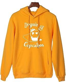 Women Sweatshirt Hoodies Halloween Makulas Lady's Skull Printed Loose Casual Long Sleeve Hooded Top Pullover with Pocket