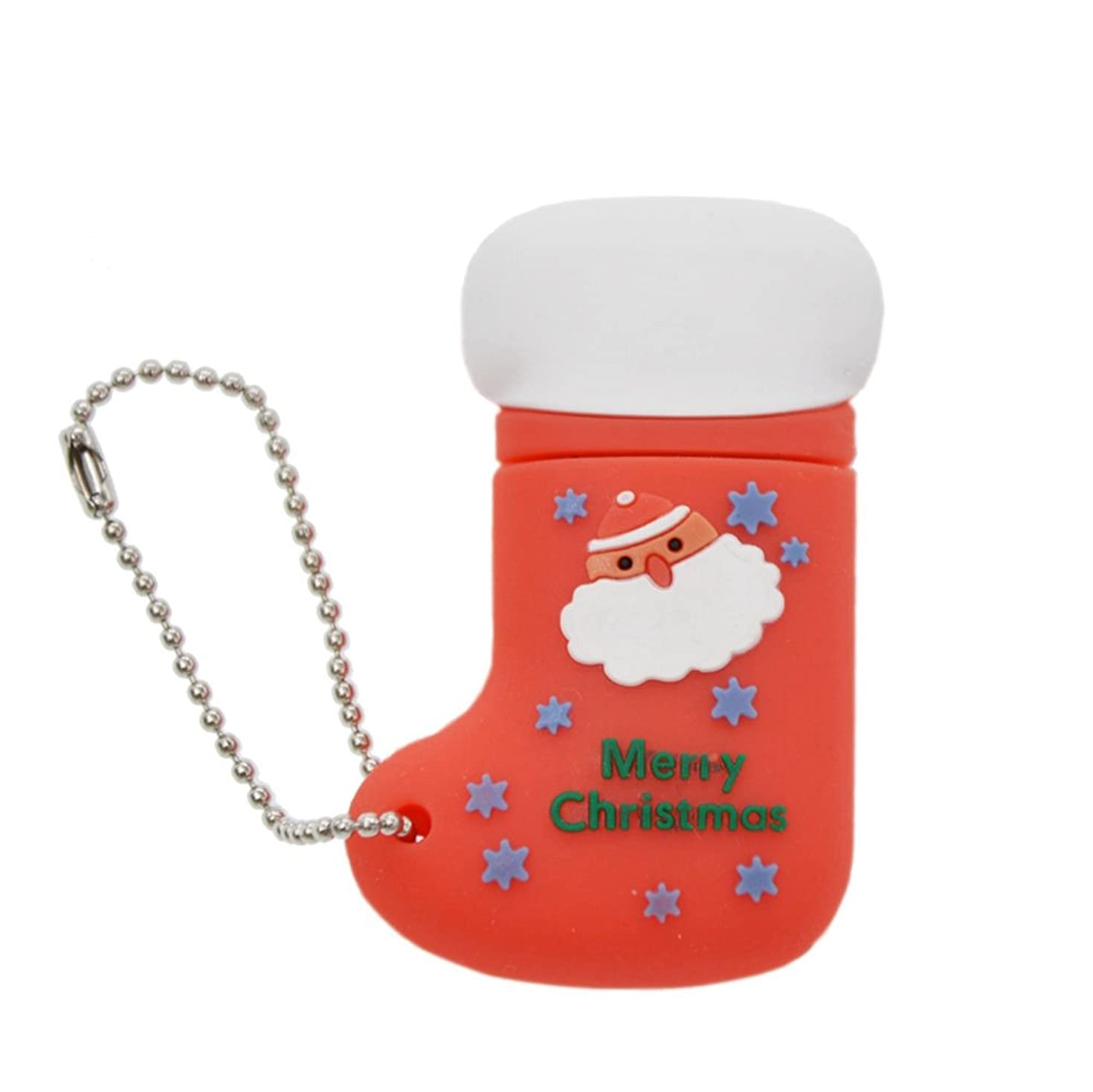 USB Flash Drive 16GB Thumb Drive - Cartoon Christmas Sock USB 2.0 Pen Drive - FEBNISCTE Memory Stick Jump Drive for Girl/Woman/Wife