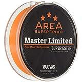 VARIVAS(バリバス) エステルライン スーパートラウトエリア マスターリミテッド スーパーエステル 140m 0.4号 2.1lb ネオオレンジ