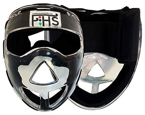 Field Hockey Face Mask Clear Transparent Penalty Corner Protection (Senior)