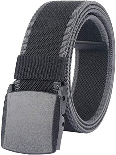 Men s Elastic Stretch Belts Breathable Canvas Web Belt for Men Women with No Metal Plastic Buckle product image