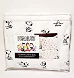Black & White The Many Moods of Snoopy Peanuts - Happy Tired Love Sad Angry Proud Surprised - Queen Size Sheet Set (Flat, Fitted, Pillowcases)