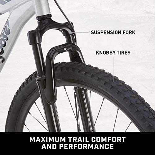 Product Image 5: Mongoose Impasse Mens Mountain Bike, 18-Inch Frame, 29-Inch Wheels with Disc Brakes, Silver