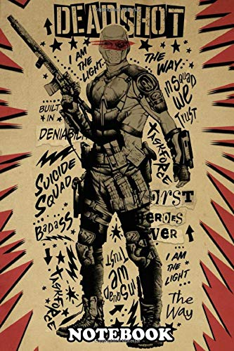 Notebook: Deadshot , Journal for Writing, College Ruled Size 6' x 9', 110 Pages