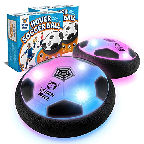 LLMoose Hover Ball for Boys & Girls - 2 LED Light Soccer Balls with Foam Bumpers