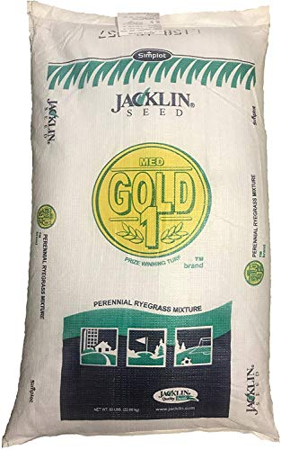 Jacklin Seed - Medalist Gold Blend - 100% Perennial Ryegrass | Certified Grass Seed (25 lbs (5,000 sq ft))