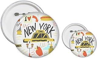 Kit de création de badges et de boutons pour loisirs créatifs Motif New York