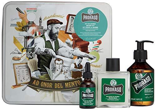Proraso Cofanetto Regalo Cura della Barba Eucalipto (Detergente Barba, 200 ml + Balsamo Barba, 100 ml + Olio Barba, 30 ml)