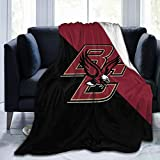 Boston College Eagles University Flannel Blanket Super Soft Cozy Luxury Couch Home Decor Warm Anti-Pilling Fleece Throw Blanket for Couch Bed Sofa 60'X50'