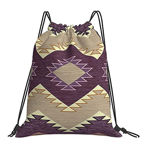 Bags Heritage Sac à dos de sport avec cordon de serrage pour homme et femme Motif prune et framboise