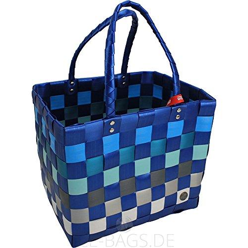 Shopper Ice-Bag Einkaufskorb Witzgall, perfekte Einkaufstasche für Ihren Einkauf, Fb. blau, grau, Mod. 5010, 37cm (inkl. Henkel) x 28 x 24cm