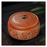 Contenitore in Ceramica per tè Contenitore in Porcellana Contenitore per condimento per Frutta secca Contenitore per tè 18 * 10 cm (Colore: E)