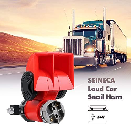 24V Snail Air Horn with Compressor Super Loud Car...