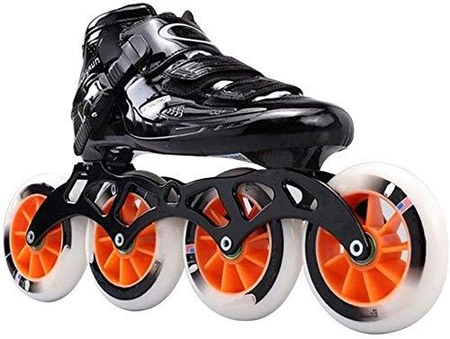 Außen Adult Fitness Inline Skates Speed-Inline Skates for Frauen und Männer Professionelle Geschwindigkeit Roller Skates High Performance Racing Skates Anfänger Roller Inline-Skate Unisex, Größe: 43 E