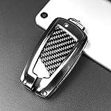 Car Key Cases Cubierta Protectora dominante de la Fibra de Carbono de Coches, Fit for 1 Serie 2 3 4 5 6 7 X3 X4 M2 M3 M4 M5 M6 GT3 GT5 (Estilo clásico)