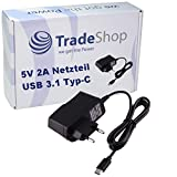 Trade-Shop Chargeur rapide 5 V USB 3.1 type C 2 A pour Blackberry KEY2 KEYone Motion Bluboo Maya Max...