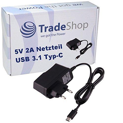 Trade-Shop - Caricatore USB 3.1 tipo C 2A per Blackberry KEY2 KEYone Motion Bluboo Maya Max S8 S8+ BQ Aquaris X2 X2 Pro Doogee Mix 2 Caterpillar Cat S61 Cyrus CS 40