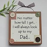 Craftworks Originals Best Dad/Fathers day/Birthday Wooden Keepsake Gift Plaque Brown
