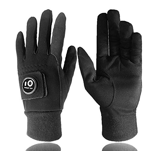 Men Winter Golf Gloves Warm with Ball Marker Grip Performance Value 1 Pair Large Cold Weather Windproof Size from Medium to XL (Large)